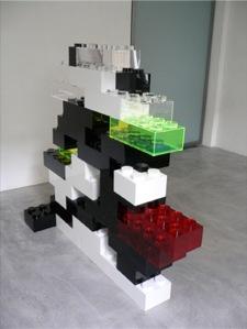 étagère en lego Lunatic construction