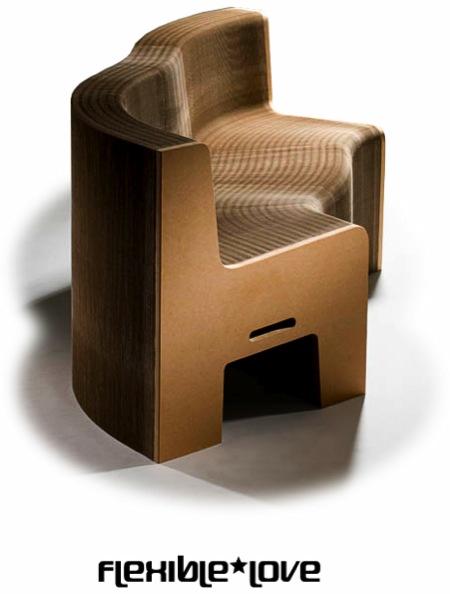 fauteuil accordéon en carton FlexibleLove