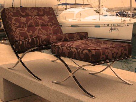 fauteuil baroque Barcelone - Mies Van Der Rohe design