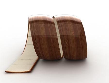 fauteuil boucle en bois Loopita
