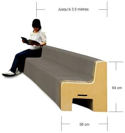 fauteuil en carton extensible FlexibleLove