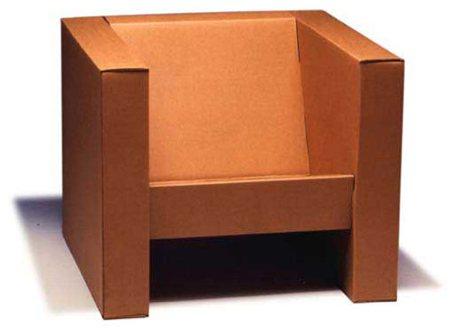 fauteuil en carton plié Tripop - Alexis Tricoire design