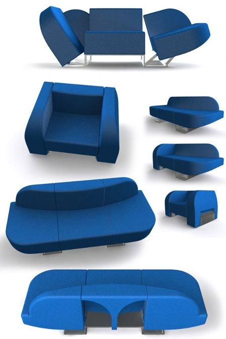 fauteuil convertible en sofa Transformers - design par Roel Verhagen Kaptein