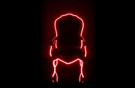 fauteuil design avec néon Electric Louis - Lee Broom