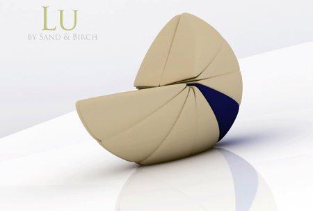 Fauteuil escargot Lu Sand Birch