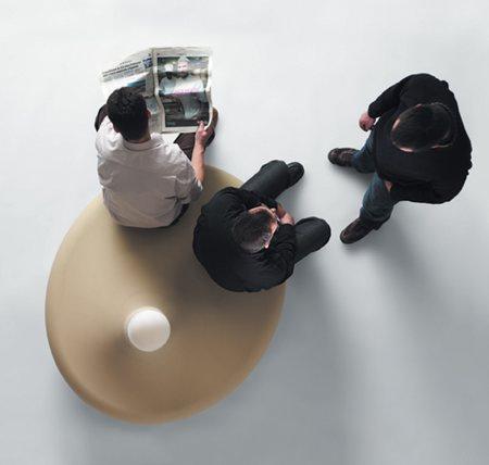 fauteuil lampe BD love lamp - vue de dessus