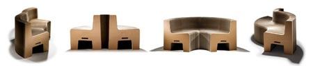 FlexibleLove - fauteuil extensible en carton recyclé