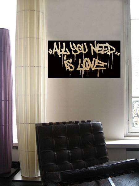 graffiti décoratif All you need is love - Tag & Wall