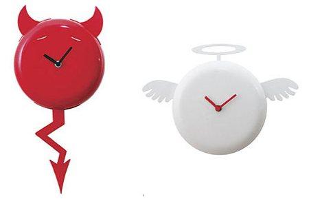 Horloge ange ou démon