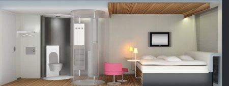 chambre design de l'hotel de luxe pour tous Citizen M