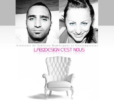 Julia et Julien les 2 créateurs de la boutique de tableaux design Lab2blog - Lab2blog