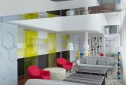 Un appartement Chinois avec une déco moderne et colorée