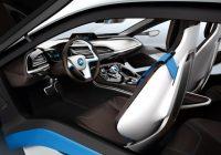BMW i8 photo de l'intérieur de la voiture