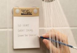 Bloc-notes waterproof Aquanotes : Notez vos bonnes idées sous  la douche !