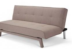 Canapé convertible clic-clac en tissu beige Yoko
