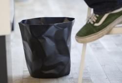 Corbeille à papier froissée Bin Bin noire