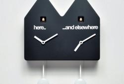Horloge (double) coucou design qui ne fait pas coucou la nuit