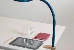 Softclamp :  la lampe de bureau architecte en silicone souple