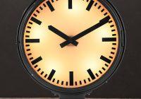 METRO LIGHTED TRAIN STATION CLOCK – Horloge de métro vintage