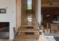 Maison du 19ème siècle – escalier en bois contemporain sans contre-marches