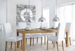 Une table à dîner en teck massif pas chère chez Maisons du Monde
