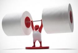 Mr T : L'haltérophile qui soulève vos rouleaux de papier toilette