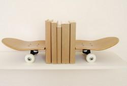 Serre-livres planche de skateboard par Skate-Home