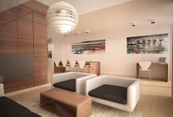Starter House : maison en 3D moderne et chaleureuse par Simonas Petrauskas