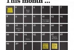 Sticker Calendrier Ferm Living : Notez vos bonnes résolutions pour 2014 !