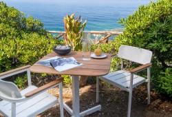 Mobilier Outdoor : Salon de jardin en teck et alu verni Shine by Emu
