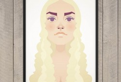 Flat Prints : Tableau The Mother of Dragons
