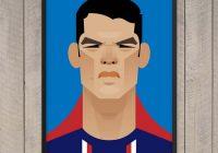 Tableau football prints Thiago Silva