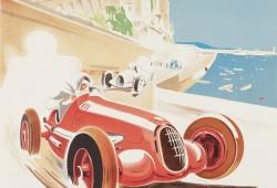 Déco rétro : Affiche vintage Monaco 1937