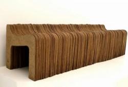 Banc en papier kraft recyclé