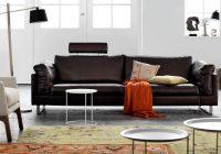 Canapé en cuir marron foncé Indivi 2 BoConcept