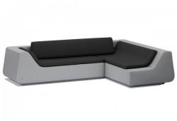 Canapé d'angle design en tissu Novv by Green sofa