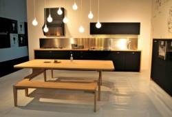 Cuisine design Schiffini en bois et gomme noire