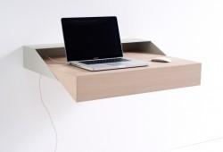 Deskbox : Petit bureau mural extensible