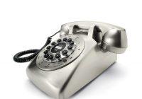 Téléphone vintage chromé Dreyfuss 500