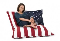 Pouf coussin géant flag USA