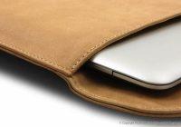 Housse pour macbook air en cuir Par avion