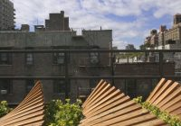 Jardin sur le toit à Greenwich village
