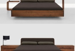 Lit en bois design by Zeitraum