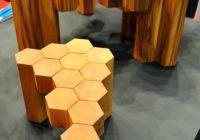Table design en bois octogones Plato