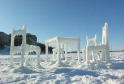 Meubles en glace et neige
