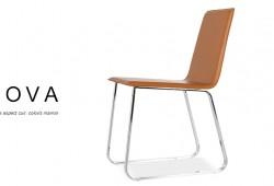 NOVA, une chaise design aspect cuir à moins de 60 euros