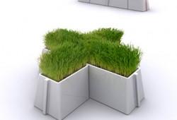 Pots de fleurs en céramique modulables