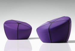 Pouf rond Iko by Steiner