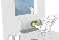 Fedora, radiateur avec niche réchauffe-pieds intégrée