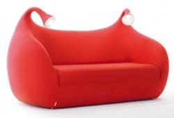 Canapé-lit avec lampes intégrées